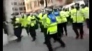 Muslims Chase Cops in London....Police Run for Cover
