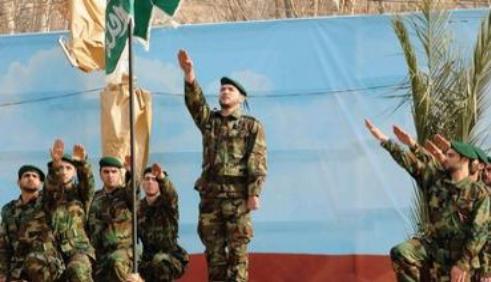 Hezbollah-members-rally-in-Beirut-in-Nazi-salute-Photo-Reuters